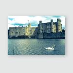 Leeds Castle Poster, Pillow Case, Tumbler, Sticker, Ornament