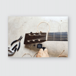 Acoustic Guitar New Set Strings Replacement Poster, Pillow Case, Tumbler, Sticker, Ornament