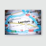 Leerdam Netherlands On Map Poster, Pillow Case, Tumbler, Sticker, Ornament