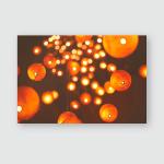 Light Bulbs Poster, Pillow Case, Tumbler, Sticker, Ornament