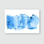 Abstract Watercolor Background Blue Stains Color Poster, Pillow Case, Tumbler, Sticker, Ornament