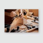 Carpenter Works Planer Workshop Production Vintage Poster, Pillow Case, Tumbler, Sticker, Ornament