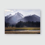 Caucasus Mountains Autumn Arkhyz Landscape Poster, Pillow Case, Tumbler, Sticker, Ornament