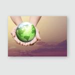 Female Human Hands Holding Float Green Poster, Pillow Case, Tumbler, Sticker, Ornament