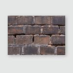 Texture Dark Brown Old Brick On Poster, Pillow Case, Tumbler, Sticker, Ornament