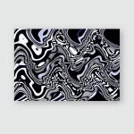Dramatic Rippling Light Concept Abstract Technology Poster, Pillow Case, Tumbler, Sticker, Ornament