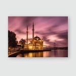 Ortakoy Mosque Bosphorus Bridge Amazing Sunrise Poster, Pillow Case, Tumbler, Sticker, Ornament