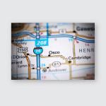Osco Illinois Usa On Map Poster, Pillow Case, Tumbler, Sticker, Ornament