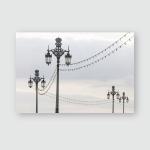 Ornate Lampposts Dusk Brighton Sky Poster, Pillow Case, Tumbler, Sticker, Ornament