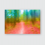 Dreamy Abstraction Autumnal Forest Photographed On Poster, Pillow Case, Tumbler, Sticker, Ornament