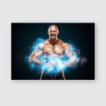 Bodybuilding Competitions On Scene Handsome Fit Poster, Pillow Case, Tumbler, Sticker, Ornament