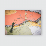 India China Borders Symbolic Photo Miniature Poster, Pillow Case, Tumbler, Sticker, Ornament