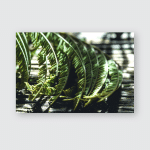 Dried Leaves Mimosa Flowers On Wooden Poster, Pillow Case, Tumbler, Sticker, Ornament