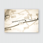 Drewryville Virginia Usa On Geography Map Poster, Pillow Case, Tumbler, Sticker, Ornament