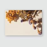 Dried Mimosa Purple Flowers Sunlight Closeup Poster, Pillow Case, Tumbler, Sticker, Ornament
