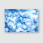 Out Focus Lights Creating Blue Bokeh Poster, Pillow Case, Tumbler, Sticker, Ornament
