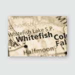 Whitefish Montana Usa Poster, Pillow Case, Tumbler, Sticker, Ornament