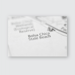 Bolsa Chica State Beach California Usa Poster, Pillow Case, Tumbler, Sticker, Ornament