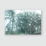 Droplet Through Windshield Lights Rain Multicolour Poster, Pillow Case, Tumbler, Sticker, Ornament