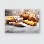 Whole Grain Products Complex Carbohydrates On Poster, Pillow Case, Tumbler, Sticker, Ornament
