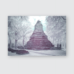 Infrared Fine Art Photography Sukhothai Kingdom Poster, Pillow Case, Tumbler, Sticker, Ornament