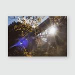 Overhead Railway Mountains Poster, Pillow Case, Tumbler, Sticker, Ornament