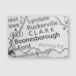Boonesborough Kentucky Usa Poster, Pillow Case, Tumbler, Sticker, Ornament