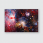 Outer Space Art Nebulas Galaxies Bright Poster, Pillow Case, Tumbler, Sticker, Ornament