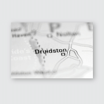 Druidston United Kingdom On Geography Map Poster, Pillow Case, Tumbler, Sticker, Ornament