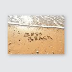 Inscription On Sand Near Sea Sunny Poster, Pillow Case, Tumbler, Sticker, Ornament