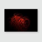 Overlay Light Abstract Pattern On Dark Poster, Pillow Case, Tumbler, Sticker, Ornament
