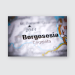 Borgosesia Italy On Map Poster, Pillow Case, Tumbler, Sticker, Ornament