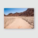 Dry Sand River Mountains Altiplano Bolivia Poster, Pillow Case, Tumbler, Sticker, Ornament