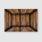 Inside Empty Wooden Room Wood Box Poster, Pillow Case, Tumbler, Sticker, Ornament