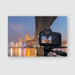 Dslr Camera On Tripod Shooting Bhumibol Poster, Pillow Case, Tumbler, Sticker, Ornament