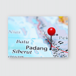 Padang Pinned On Map Indonesia Poster, Pillow Case, Tumbler, Sticker, Ornament