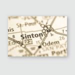 Sinton Texas Usa Poster, Pillow Case, Tumbler, Sticker, Ornament