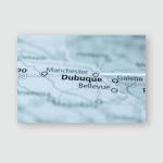 Dubuque Iowa Usa Poster, Pillow Case, Tumbler, Sticker, Ornament