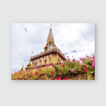 Pagoda Wat Chalong Temple Flower On Poster, Pillow Case, Tumbler, Sticker, Ornament