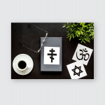 Interfaith Dialogue Concept World Religions Symbols Poster, Pillow Case, Tumbler, Sticker, Ornament