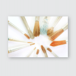 Paint Brushes Isolated On White Background Poster, Pillow Case, Tumbler, Sticker, Ornament