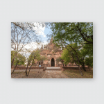 Interior Ancient Temples Bagan Myanmar Poster, Pillow Case, Tumbler, Sticker, Ornament