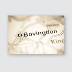 Bovingdon United Kingdom On Geography Map Poster, Pillow Case, Tumbler, Sticker, Ornament