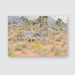Wild Burro Desert Nevada Usa Poster, Pillow Case, Tumbler, Sticker, Ornament