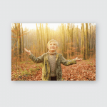 Boy Arms Outstretched Looking Park Poster, Pillow Case, Tumbler, Sticker, Ornament