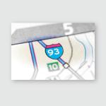 Interstate 93 New Hampshire Usa Poster, Pillow Case, Tumbler, Sticker, Ornament