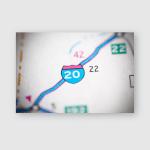 Interstate 20 Texas Usa Poster, Pillow Case, Tumbler, Sticker, Ornament