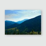 Wild Nature Summer Landscape Carpathian Mountains Poster, Pillow Case, Tumbler, Sticker, Ornament