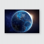 Internet Network Fast Data Exchange Over Poster, Pillow Case, Tumbler, Sticker, Ornament