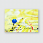 Ipatinga Pinned On Map Brazil Poster, Pillow Case, Tumbler, Sticker, Ornament